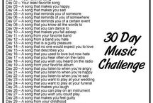 30 Days Music Challenge / I'm having the challenge, originally from Path, combined music of the day with picture