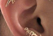 pad earrings