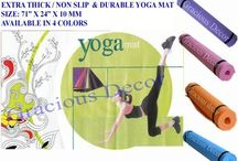 Gracious Yoga Mat / Indoor Outdoor Yoga Pilates Mat Extra Thick Non Slip.  Its Only $7.99