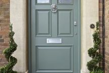 front door and exterior  colours