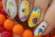 my Flowers nail art / Only hand painted!
