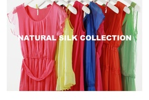 NATURAL SILK COLLECTION / The new dresses capsule in natural fiber Lightweight clothing with transparent lace details and feminine lines, inspired by the bright and warm colors of summer.