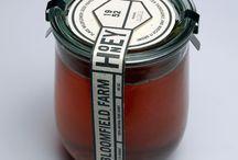 honey labels logos packaging