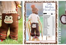 MONKEY ~ Patterns / PDF patterns designed by IraRott / by IraRott Inc.