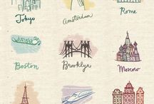 ART TRAVEL / World / // Artistic representations of the world, artistic travel quotes, and arty travel inspiration