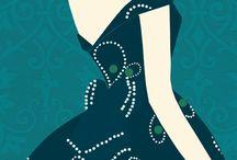 illustrations  féminines. ..!!!