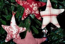 Christmas Ornaments / From paper to burlap....all kinds of ornaments