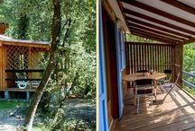 Les chalets à louer du Domaine de la Sablière / Les chalets à louer sur le camping naturiste du Domaine de la Sablière