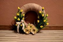 wreath yellow tulip