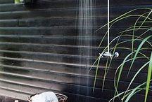 Sprcha v záhrade