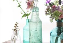 Inspire you {bottles and jars} / Perfect for simple floral arrangements.