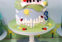 peppa+tayo cake inspiration