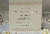 Svatební oznámení Elegantní kolekce / Elegantní a nádherné pro Váš velký den.