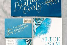 Stationery - Invites: Watercolour & Painterly