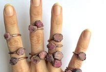 Raw ruby jewelries