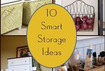 Organize/storage ideas / by Angie Ledford