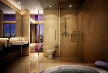 Down town condo / the bath / by Annette Rosales