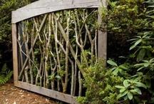 Trädgård grindar och staket