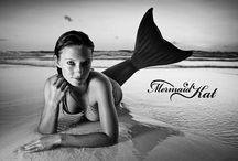 """Mermaid:black and white photos. / Mermaids /sereias """"reais"""" em preto e branco."""