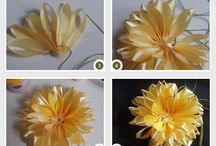 Ribbon flowers / How to create