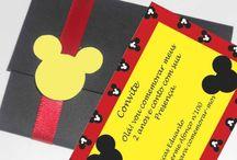 Convite Mickey Mouse / 33 Convites do Michey Mouse (Modelos para encantar você) - O convite é o primeiro item que os convidados recebem para a festinha e nele já expressa todo o carinho de quem convida. E para hoje selecionei 30 convites do Michey Mouse.  Confira: http://bit.ly/2fXyNtS