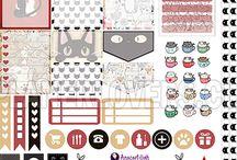 Printable sticker planner