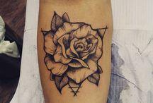 rose swallow tattoos