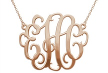 Bejeweled: Put My Initials On It! / I love monogrammed jewelry! / by Gina Marie Santore