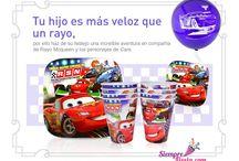 Fiesta de Cars - Disney / Ideas y artículos para una fiesta de cumpleaños de la película Cars de Disney.