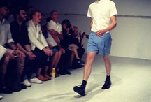 """KRISVANASSCHE Menswear S/S13 Every guy needs his white T-shirt"""" http://ow.ly/cm"""