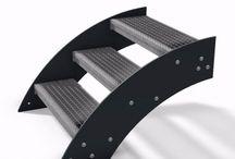 Design Treppe Außentreppe Stahlwangentreppe / Unsere Stahlwangentreppe können auf Maß gefertigt werden.