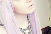 Pastel coloured hair