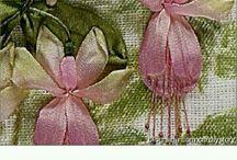 kwiaty wstążki