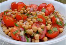 Recepty šaláty, cícer,uhorky, cukíny a ost. zelenina