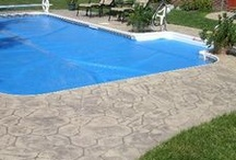 Concrete Pools and Decks / Create an inviting pool deck with decorative concrete. Intermountain Concrete Specialties is the largest supplier of decorative concrete stains and equipment in the Intermountain west.