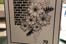 Tim holtz wall and sunkissed flowers
