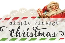 Simple Vintage Christmas / Tis the season to be jolly with the new Simple Vintage Christmas collection from Simple Stories!  Beautifully illustrated traditional designs featuring nostalgic, old-fashioned Christmas icons & patterns make this the perfect collection to document all of your festive holiday memories.