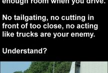 """Show Truckers Love / Asking drivers of non-commercial vehicles to show truckers """"love"""" by driving well around trucks."""