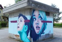 Murals / Murals and Street Art. Graffiti. Cool walls around town. Art makes a city a beautiful place to live.