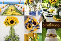 Sunflowers Themed Wedding