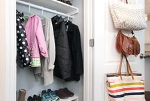 Entryway Organization / Simple and effective storage and organization ideas for the entryway in your home.