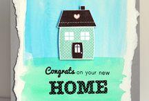 Watercolour card / New home