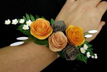 Paper bouquet and corsage