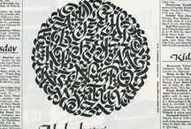 Calligraphy / Calligraphy, blackletter, humanist bookhand, uncial, copperplate, gothic