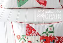 Christmas quilts or patchwork
