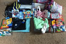 Fostering Love Kits / Filled duffel bags for foster kids removed from their home during dangerous situations.