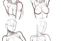 Анатомия/Позы/Идеи / Построение тела, позы.