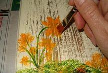 ahşap boyama,yağlı boya tablolar,seramik ve polyester ürünlerim.