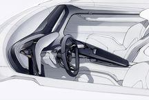 interior sketchs car