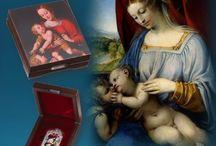 Madona / Madona nebo také Panna Marie je jedním z nejčastějších vyobrazení křesťanského výtvarného umění. Inspirací byla i pro mnohé motivy na světových mincích.